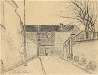 rue de banlieue by maurice utrillo