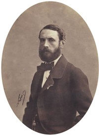portrait de louis james alfred lefébure-wely, associé de tournachon by nadar and adrien tournachon