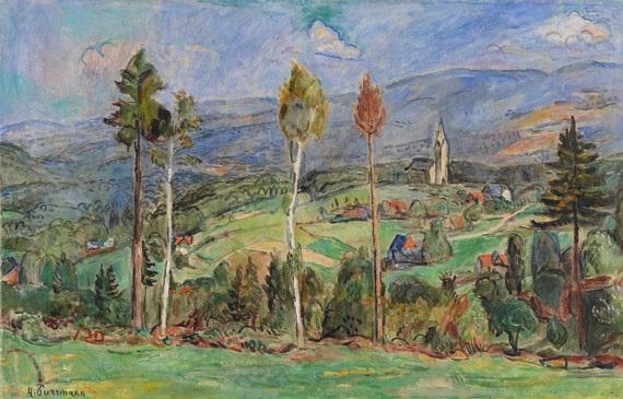 schlesische landschaft by hans purrmann
