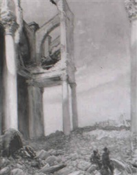 inside a bombed french cathedral by louis ginnett