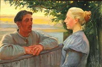 meeting across the fence by anna kirstine ancher