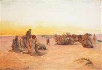 prière dans le desert by otto pilny