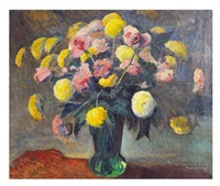 vase with flowers by walter alexander bailey