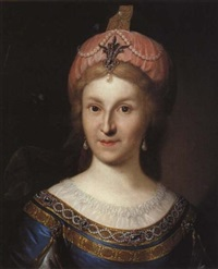 portrait of maria fedorovna (?) by johann hieronymus loeschenkohl