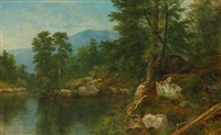 woods by a river by asher brown durand