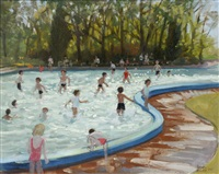 paddling pool markeaton park by andrew macara