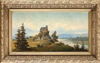 zwaliska zamku w bobolicach od południa by jozef guranowski