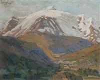snowy peak by clément (joseph charles louis) sénèque