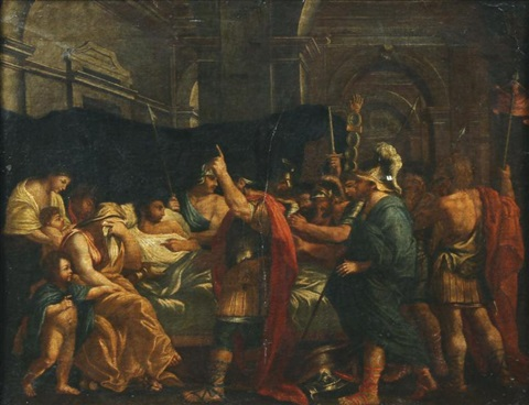 la mort de germanicus by nicolas poussin