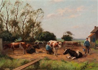 milking the cows by louis soonius