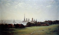 vue de rouen by charles alfred diligeon