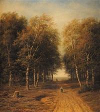 paysanne sur un chemin by mikhail konstantinovich klodt von jurgensburg