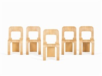 esse stacking chairs (set of 5) by gigi sabadin