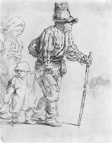 der bauer mit weib und kind by rembrandt van rijn