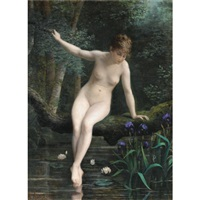 young woman bathing by marguerite arosa