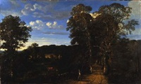 paysage champêtre by marie guillaume charles leroux