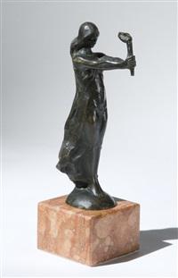 donna con fiaccola by nicola d' antino