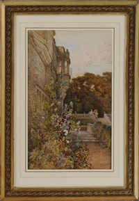 on the terrace, haddon hall by charles earle