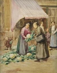 la marchande des choufleur by norman garstin