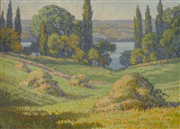 haystacks along the connecticut by harriet randall lumis