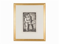 au pas de parade (plate 4 from grotesques) by georges rouault