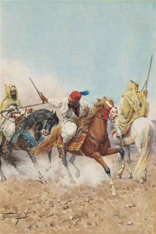 a charge in the desert by giulio rosati