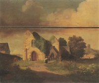 view of st sampsons church, guernsey by john young