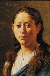 portrait of a young woman by jose ines tovilla
