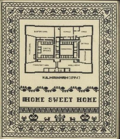 sampler home sweet home kilmainham by elaine reichek