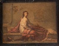 étude de jeune romaine sur un lit (study) by pierre nicolas legrand de lérant