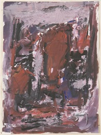 paesaggio in rosso con cielo grigio by giulio de simone