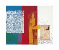 continental splash (urban bourbon series) by robert rauschenberg