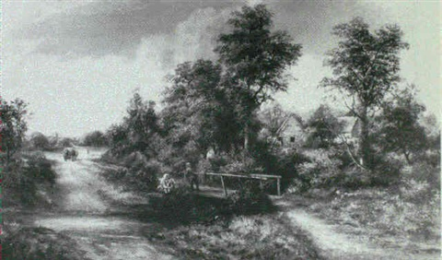 old bridge near tardbigg worcestershire by william henry waring