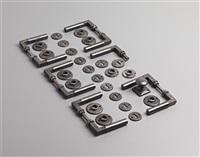 door handles w/lock plates (set of 6) by adolf meyer and walter gropius