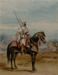 a north african horseman by henry martens