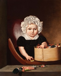portrait of a child by jan lodewijk jonxis