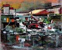 bateaux au port by jean marcel dannet