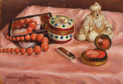 uk availability db255 3a06d Still life with dressing table by Corina Lecca on artnet