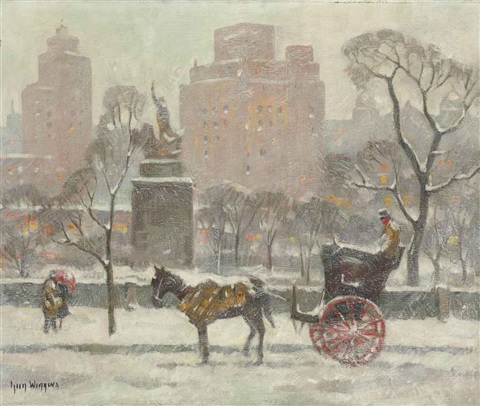 winter in central park by guy carleton wiggins