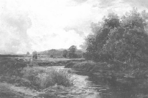 a quiet river by edward h davies
