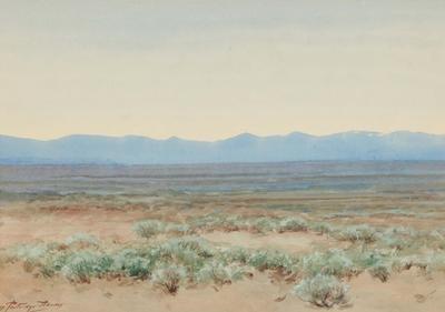 sagebrush flat, western colorado by charles partridge adams