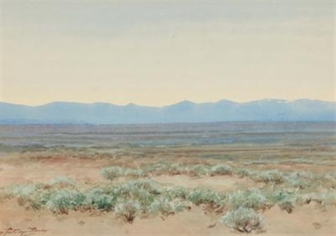 sagebrush flat western colorado by charles partridge adams