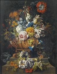 natures mortes aux vases de fleurs (pair) by gaspar pieter verbruggen the younger