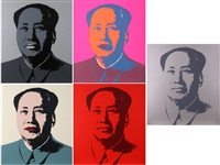 mao portfolio (5 works) by andy warhol