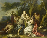 the finding of oedipus by johann heinrich keller