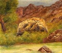 paisaje con roca by joaquín clausell