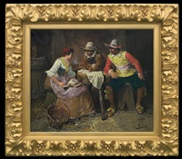 in a tavern - musketeers and a girl by george appert