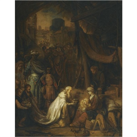 the adoration of the magi by gerbrand van den eeckhout