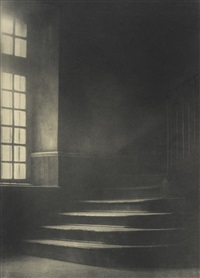window and stairway of the old ursuline convent, new orleans by arnold genthe