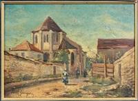 scène de village provençal by paul camille guigou